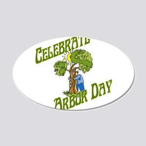 Celebrate Arbor Day 20x12 Oval Wall Decal