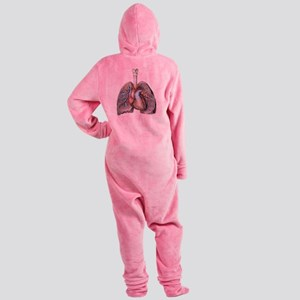Human Anatomy Heart and Lungs Footed Pajamas