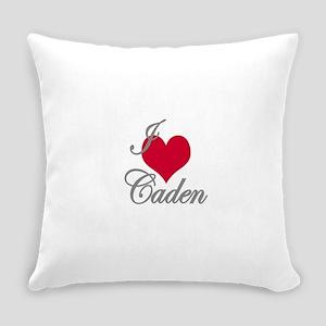 I love (heart) Caden Everyday Pillow