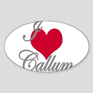 I love (heart) Callum Sticker (Oval)