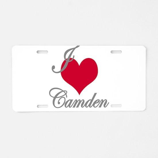 I love (heart) Camden Aluminum License Plate