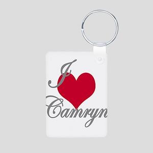 I love (heart) Camryn Aluminum Photo Keychain