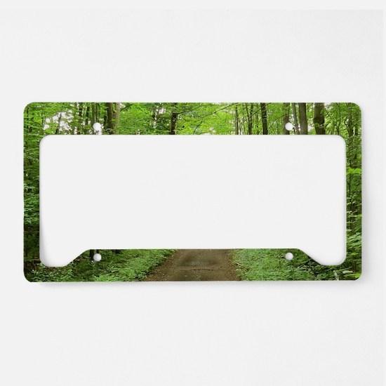 nature trail License Plate Holder