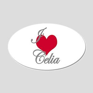 I love (heart) Celia 20x12 Oval Wall Decal