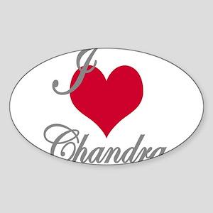 I love (heart) Chandra Sticker (Oval)