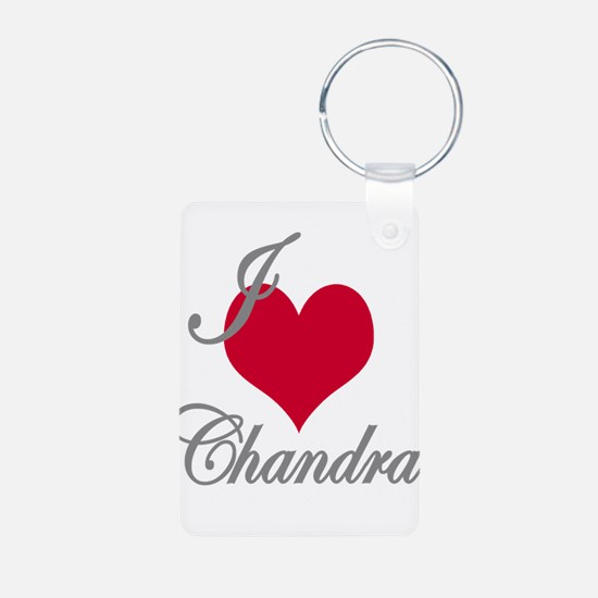 I love (heart) Chandra Keychains
