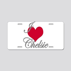 I love (heart) Chelsie Aluminum License Plate