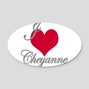 I love (heart) Cheyanne Oval Car Magnet