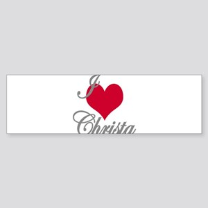I love (heart) Christa Sticker (Bumper)