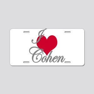 I love (heart) Cohen Aluminum License Plate