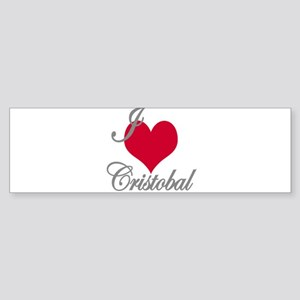 I love (heart) Cristobal Sticker (Bumper)