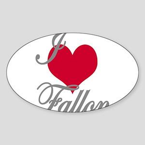 I love (heart) Fallon Sticker (Oval)