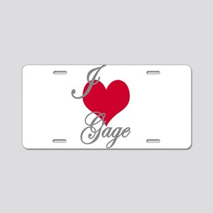 I love (heart) Gage Aluminum License Plate