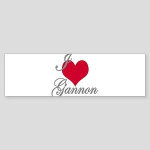 I love (heart) Gannon Sticker (Bumper)