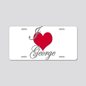 I love (heart) George Aluminum License Plate