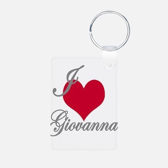 I love (heart) Giovanna Aluminum Photo Keychain