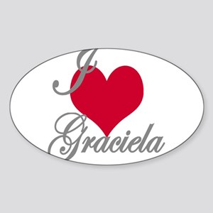 I love (heart) Graciela Sticker (Oval)
