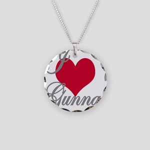 I love (heart) Gunnar Necklace Circle Charm