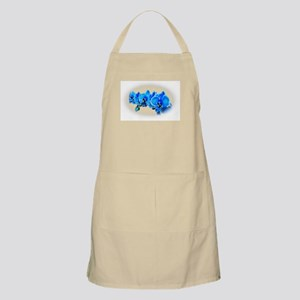 Blue orchid photo on white Apron
