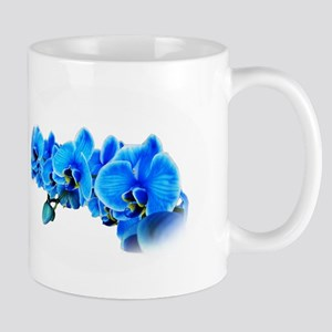 Blue orchid photo on white Mugs