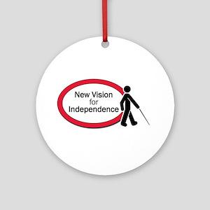 New Vision logo Ornament (Round)