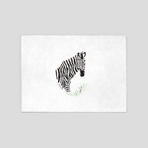Zebra decal 5'x7'Area Rug