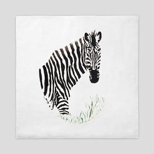 Zebra decal Queen Duvet