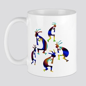 Metallic Blue Kokopelli Mug