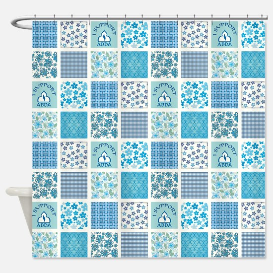 I SUPPORT ABDA! Shower Curtain