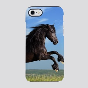 Black Horse Running iPhone 7 Tough Case