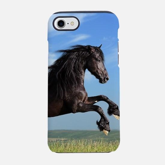 Black Horse Running iPhone 7 Tough Case