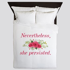 Nevertheless She Persisted Queen Duvet