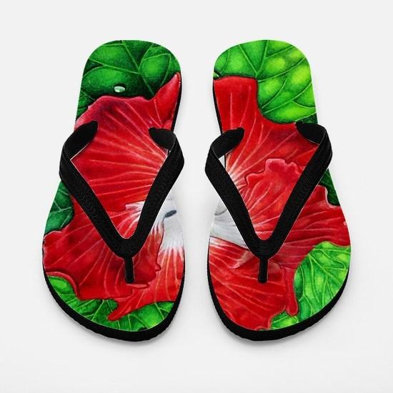 Hawaiian Hibiscus Flip Flops