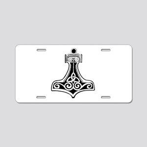 Thors Hammer Aluminum License Plate