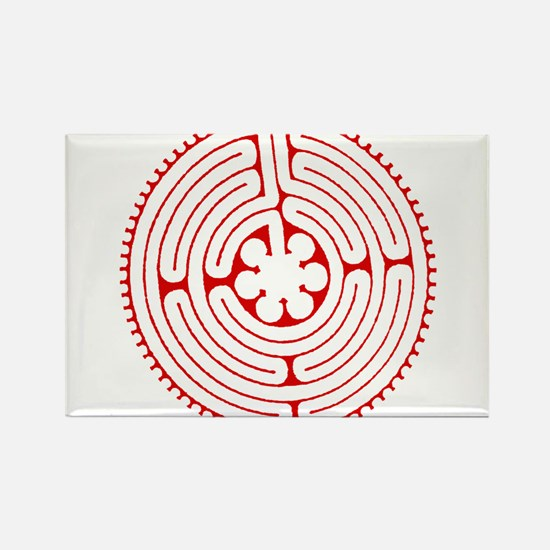 Labyrinth Red Rectangle Magnet (100 pack)