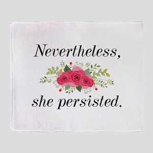 Nevertheless She Persisted Stadium Blanket