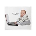 Nerd Baby Throw Blanket