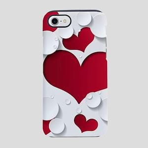 Heart Shapes iPhone 7 Tough Case