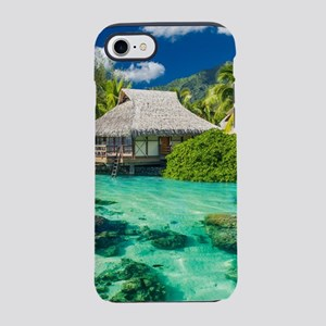 Tropical Water And Bungalow iPhone 7 Tough Case