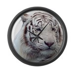 DisappearingTigerWhLG2 Large Wall Clock