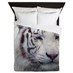 DisappearingTigerWhLG2 Queen Duvet