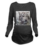 DisappearingTigerWhLG2 Long Sleeve Maternity T-Shi