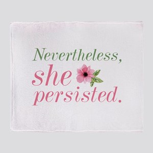 Nevertheless She Persisted Stadium Blanket