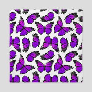 Purple Monarch Butterfly Pattern Queen Duvet