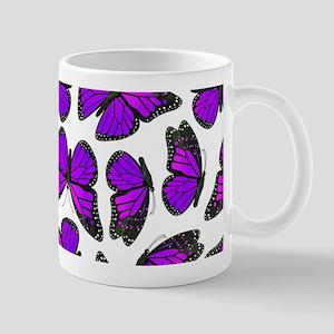 Purple Monarch Butterfly Pattern Mug