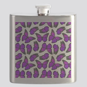 Purple Monarch Butterfly Pattern Flask