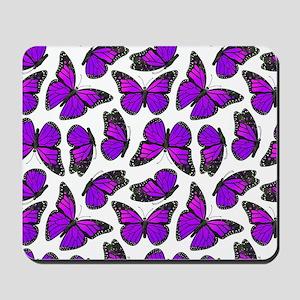 Purple Monarch Butterfly Pattern Mousepad