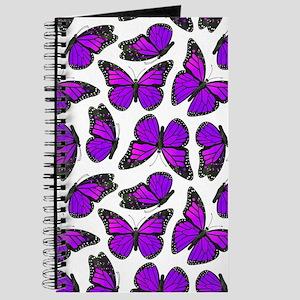Purple Monarch Butterfly Pattern Journal