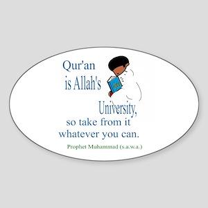 Allah's University (Oval)Sticker Bookmark