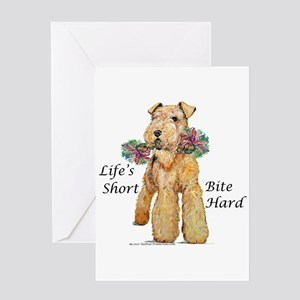 Bite Hard Airedale! Greeting Card